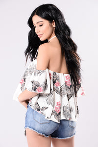 Give Us A Try Top - Floral