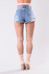 Women's White Fishnet Tights