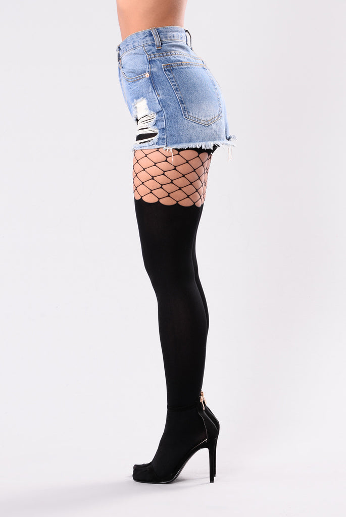 Kaylee Top Fishnets Tights