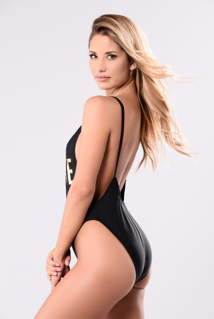 Beehive Swimsuit - Black