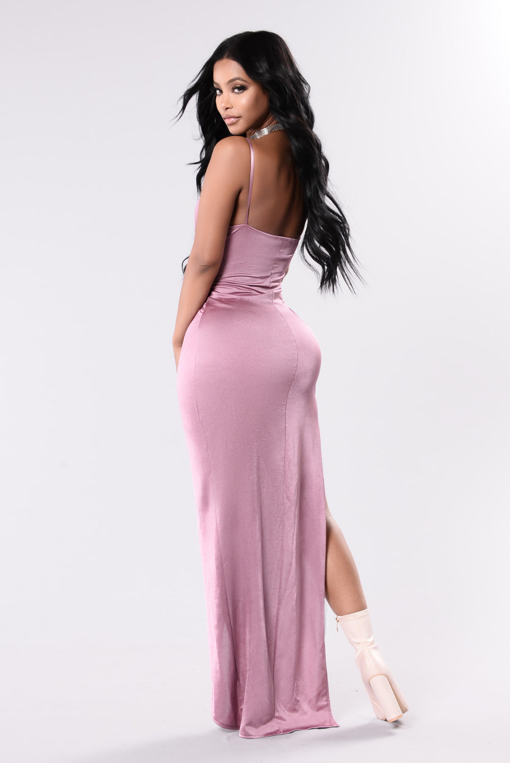 Breaking Hearts Maxi Dress - Mauve