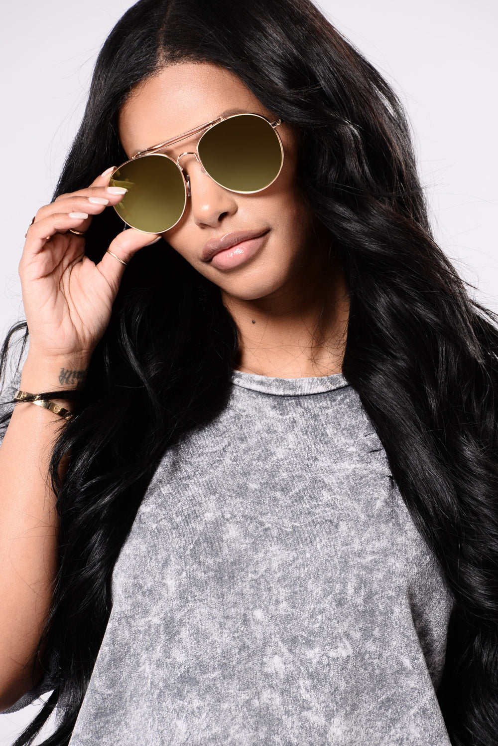 Willa Sunglasses - Gold/Yellow