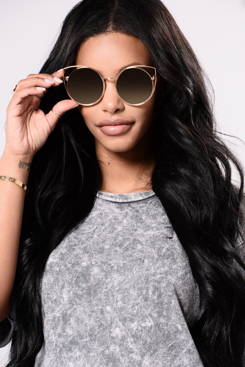 Maria Sunglasses - Gold/Green
