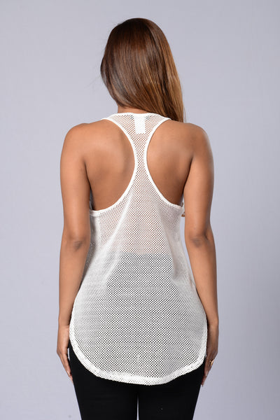 Sidepiece Tank - White