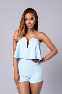 Perfect Harmony Romper - Blue Angle 1