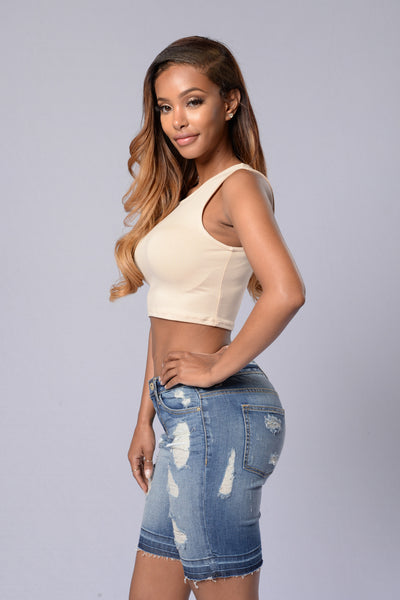 Be Basic Crop Top - Khaki