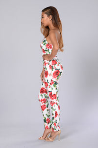Flora Jumpsuit - White
