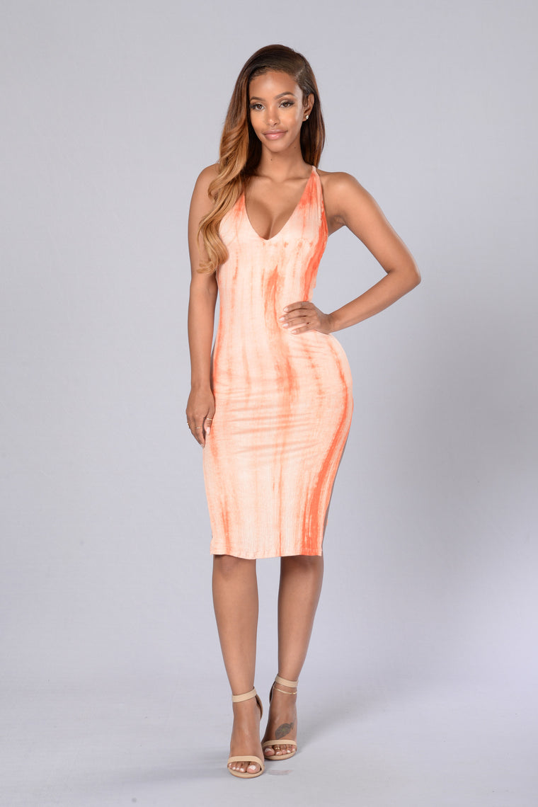 Can't Cross Me Dress - Orange