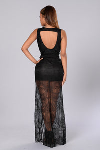 Endless Romance Dress - Black Angle 2