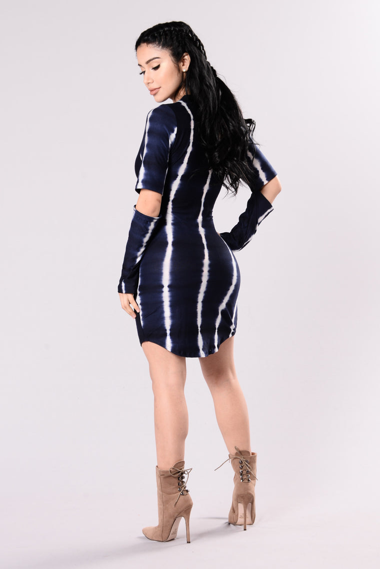 I Made It Dress - Navy
