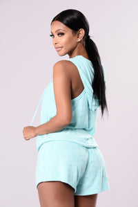 Work It Out Top - Aqua