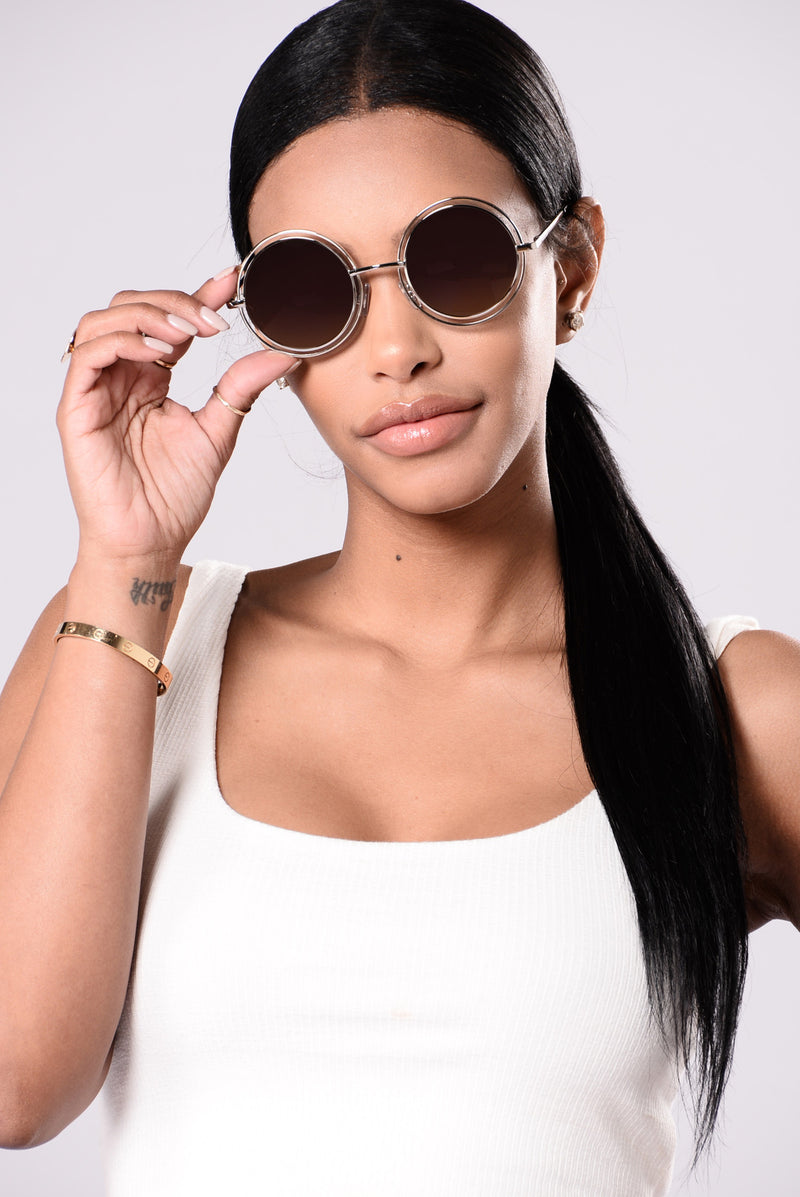 Courtney Sunglasses - Silver/Purple