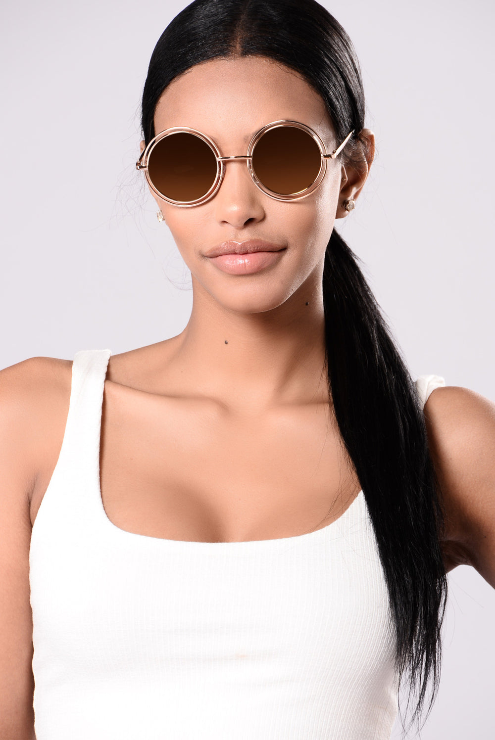 Courtney Sunglasses - Gold/Pink