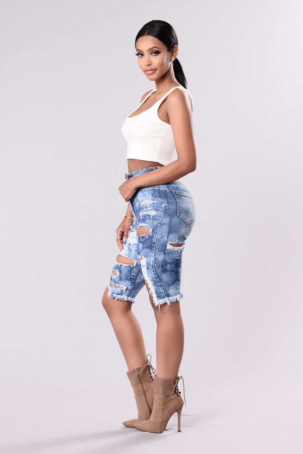 Find Me In Paradise Shorts - Medium Blue