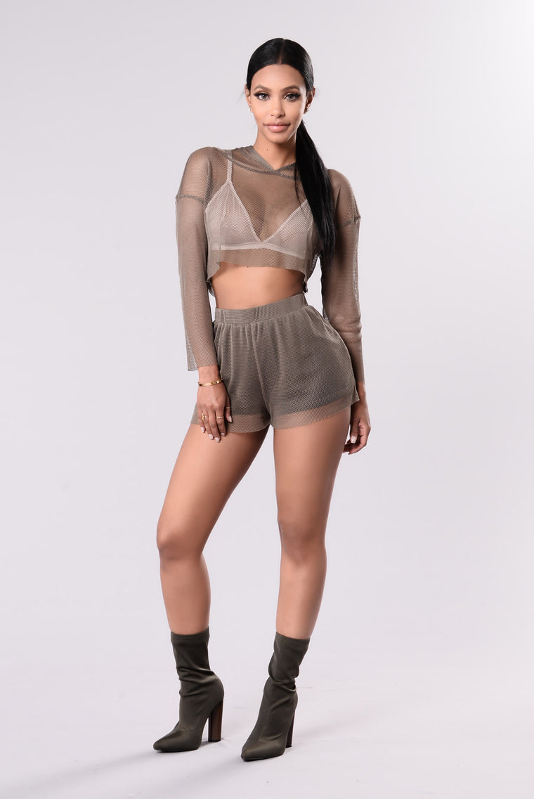 Secret Fishnet Top - Olive