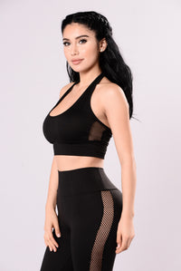 Cool Drink Of Water Crop Top - Black