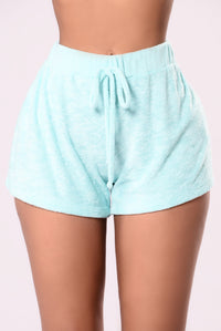 Work It Out Shorts - Aqua