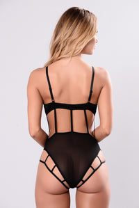 Mysterious Lover Bodysuit - Black