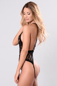 Irresistible Teddy Bodysuit - Black