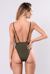 Sunburst Swimsuit - Olive