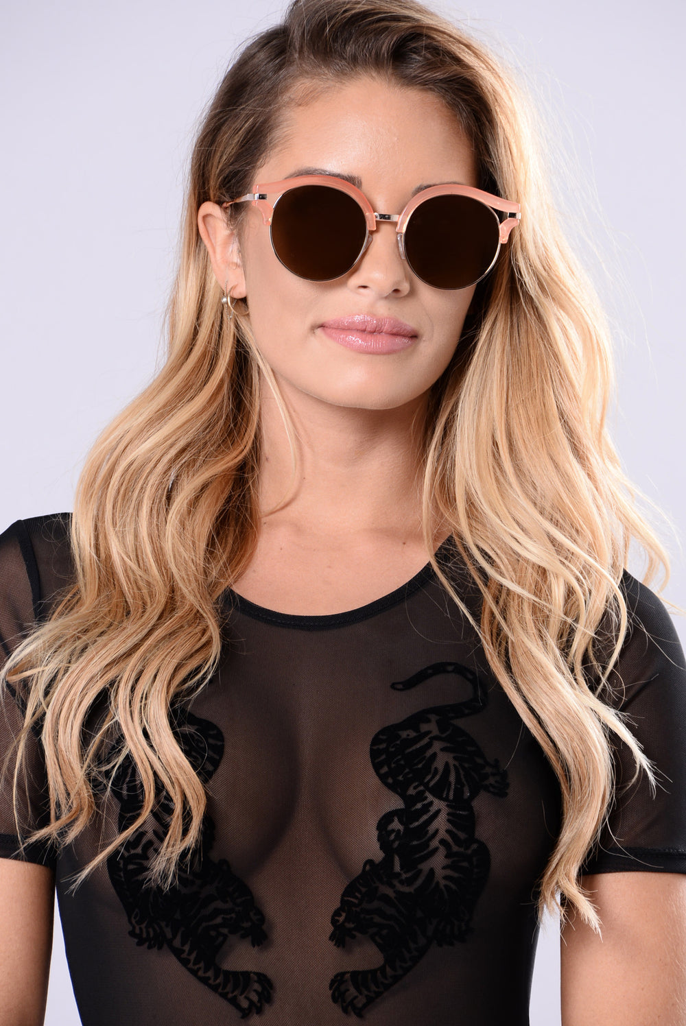 Sabrina Sunglasses - Peach