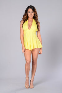 Simply Seductive Romper - Yellow Angle 1