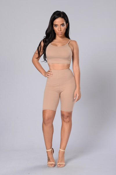 Your Go To Crop Top - Nude
