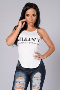 Killin' It Everyday Top - White