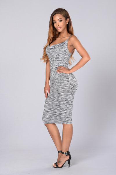Hallie Dress - Heather Grey