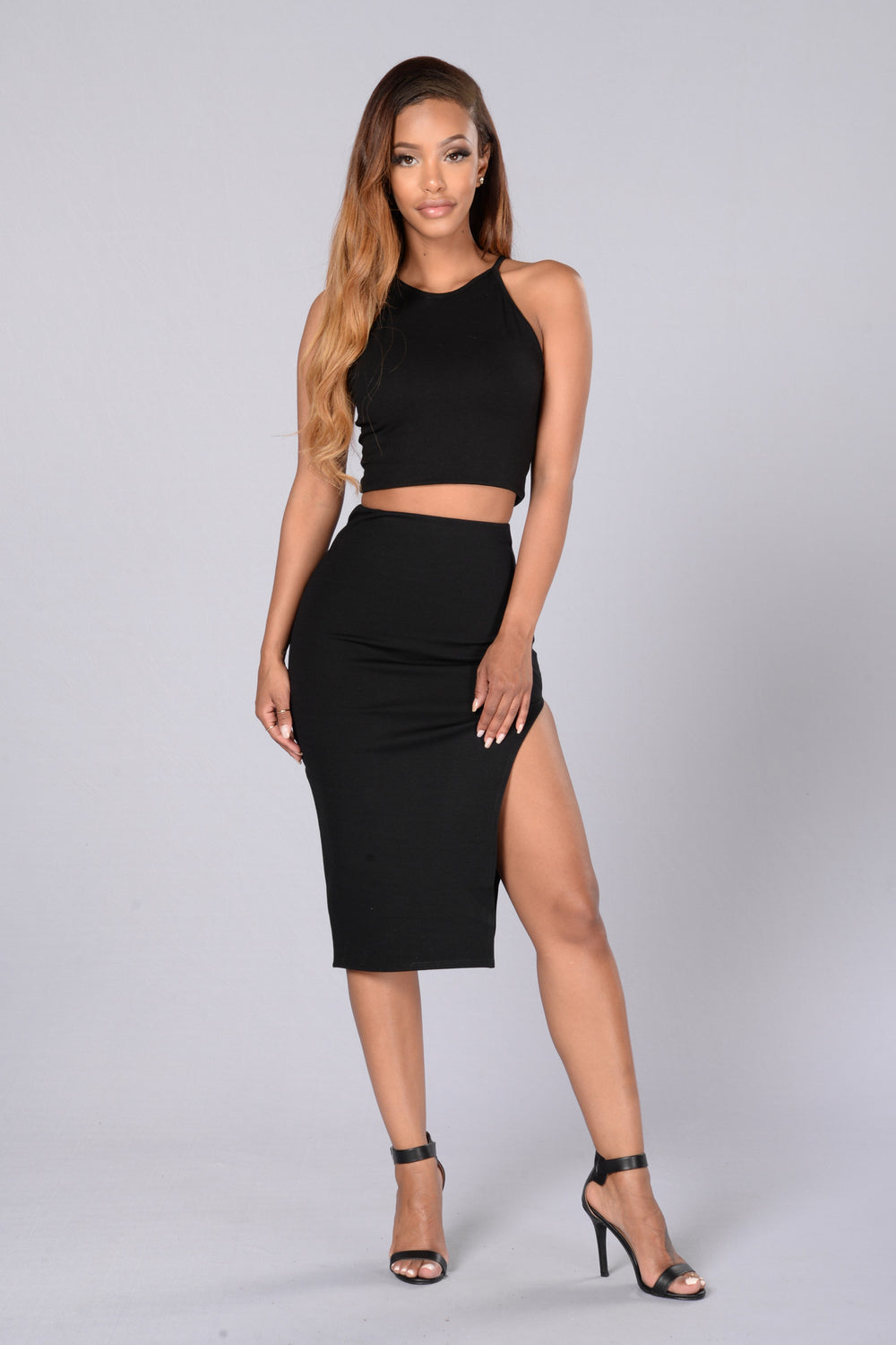 Cut It Skirt - Black