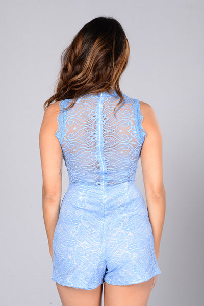 Delaney Romper - Light Blue