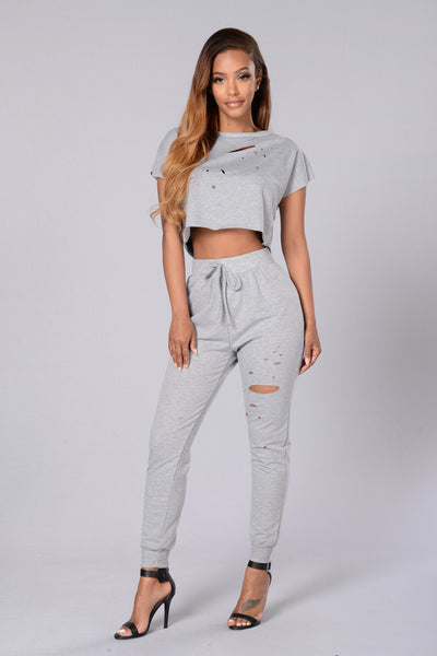 Bummin' It Top - Heather Grey