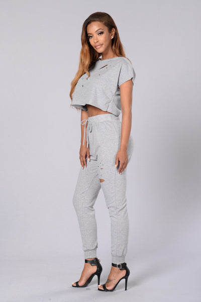 Bummin' it Pants - Heather Grey
