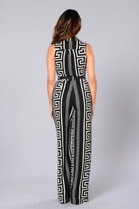 Eternity Jumpsuit - Black/White