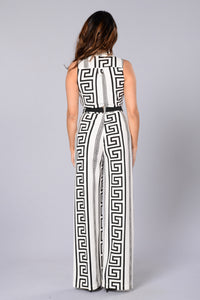 Eternity Jumpsuit - White/Black Angle 2