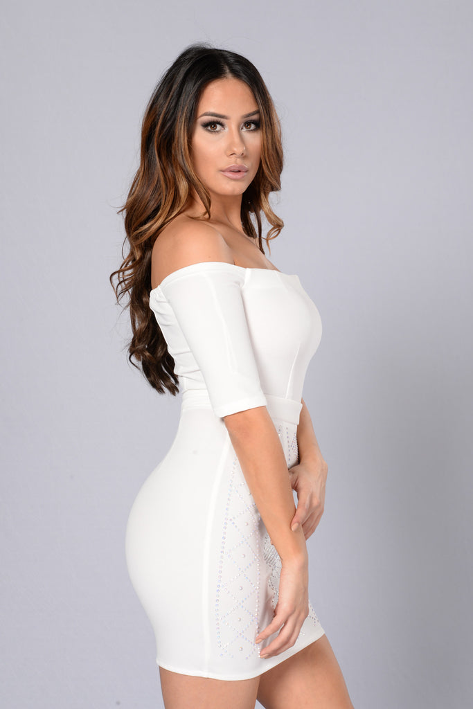 Bedazzled Dress - Ivory