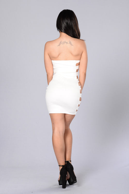 Side Bar Dress - White