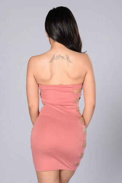 Side Bar Dress - Cinnamon