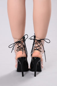 Don't Look Back Booties - Black