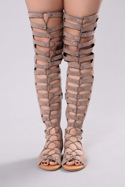 Walk Like An Egyptian Gladiator Sandal - Taupe