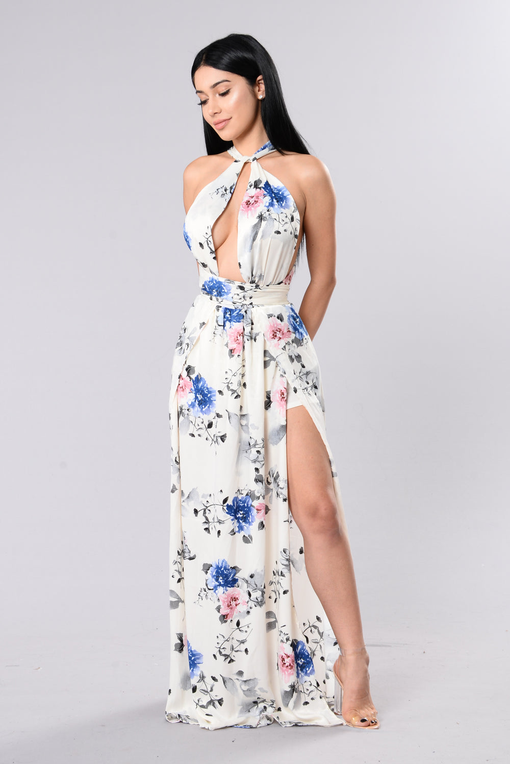 A Million Ways Dress - Ivory Floral