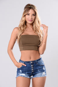 Tammy Tube Top - Olive