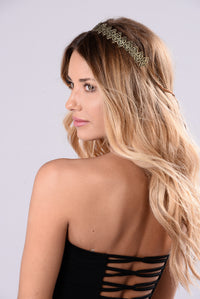 Palm Springs Queen Crown - Antique Gold