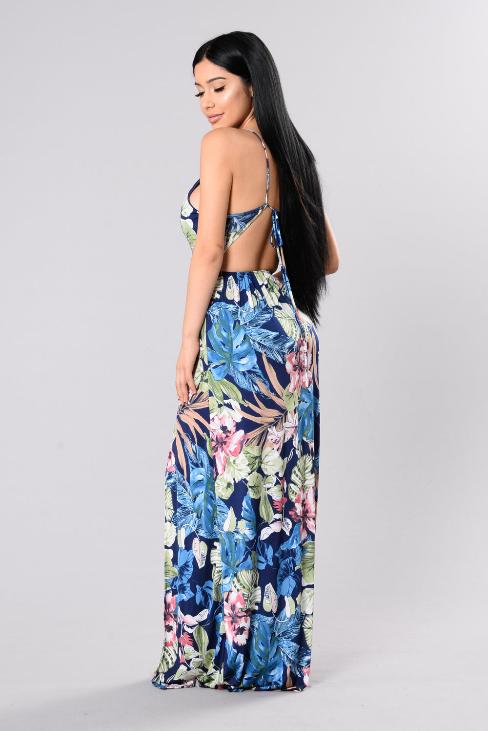 Greetings From Hawaii Dress Navy Floral