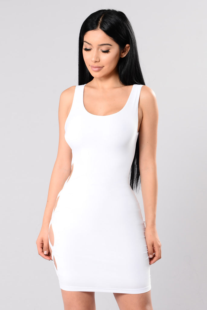 See It To The End Dress - White