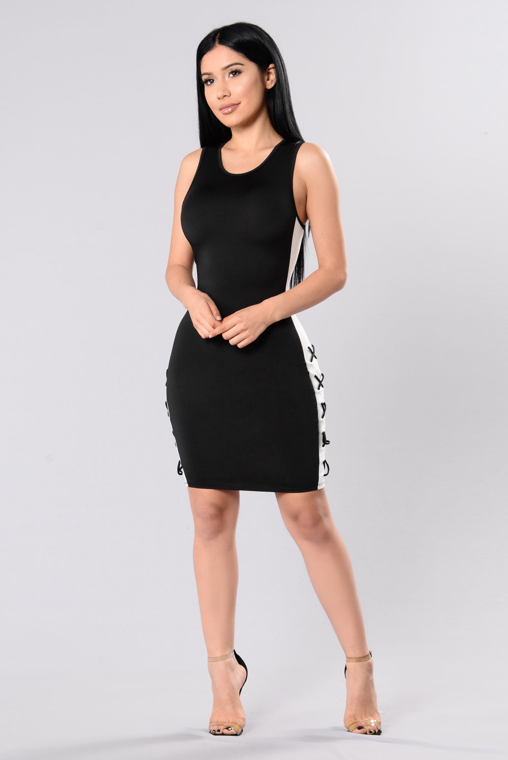 How Did We Get Here Dress - Black/White