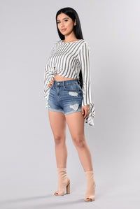 My Stripe Top - White/Black