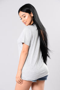 Strip Me Tee - Heather Grey