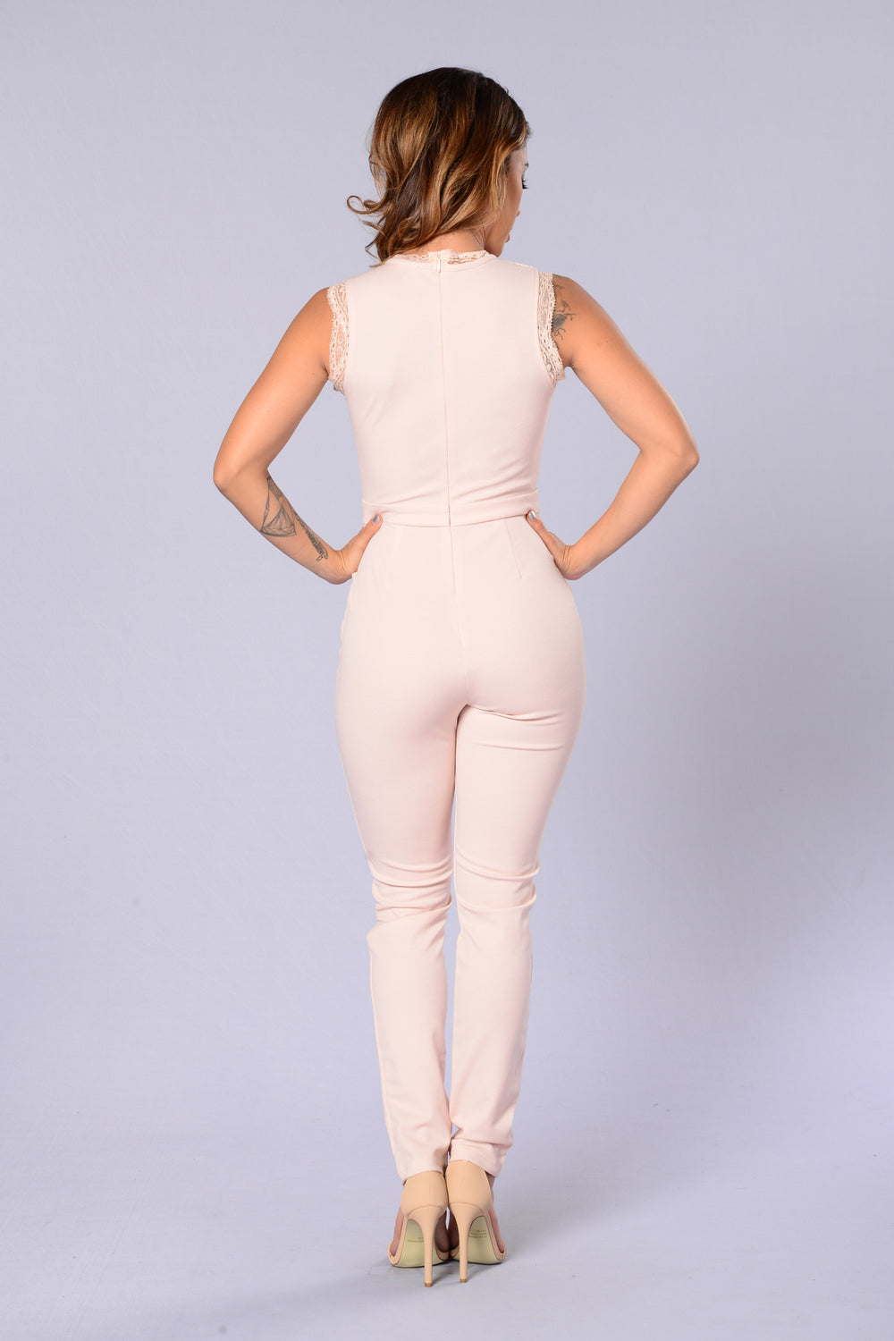 Hostess With The Mostess Jumpsuit - Peach