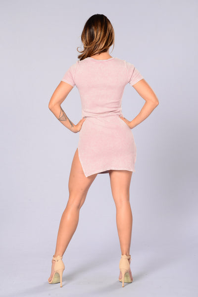 Mindy Dress - Dusty Pink